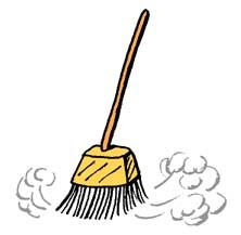 Broom clipart broomstick. Clip art panda free