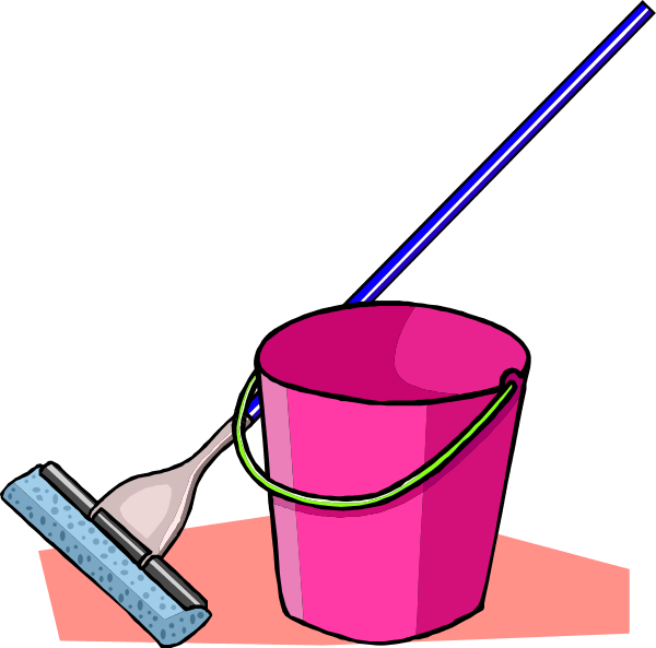 Broom mop bucket . Clean clipart clean floor