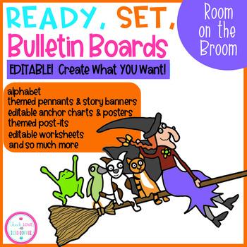 Broom clipart chart. Ready set bulletin boards