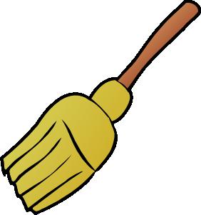 Broom clipart chart. Halloween clip art illustrations