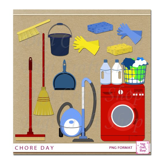 Digital chore day washing. Cleaning clipart laundry supply