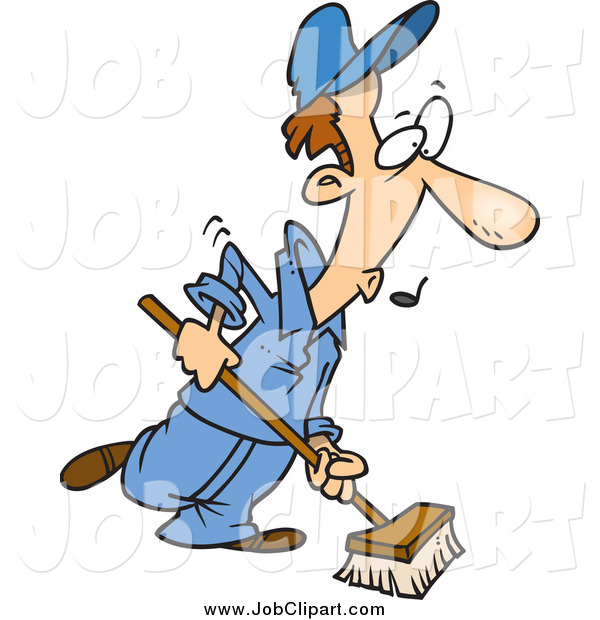 Chore clipart janitorial. Job clip art of