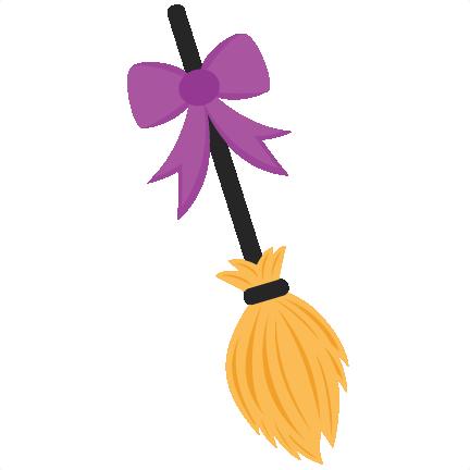 Svg scrapbook cut file. Witch clipart broom clip art