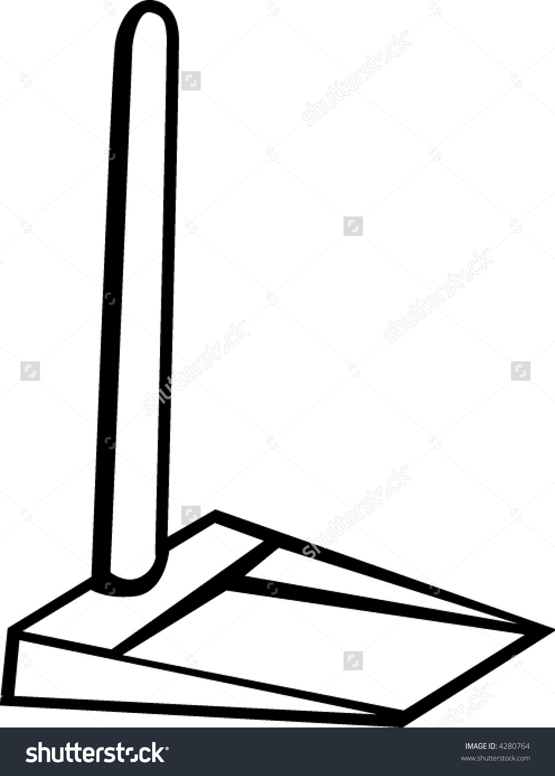 Broom clipart dustpan. And black white letters