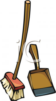 collection of and. Broom clipart dustpan
