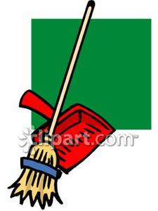 Tall and royalty free. Broom clipart dustpan