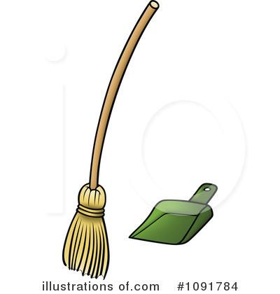 Broom clipart dustpan. Illustration by dero royaltyfree
