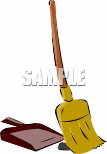 Broom clipart dustpan. A and clip art