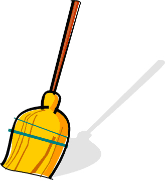 Sweeping clipartbarn. Broom clipart kid