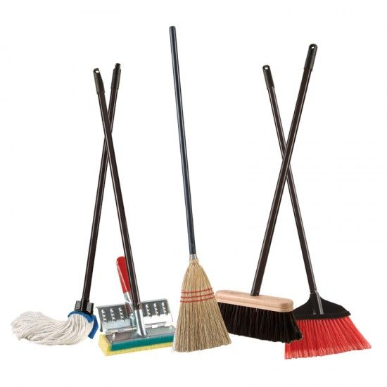 Black and white . Broom clipart mop