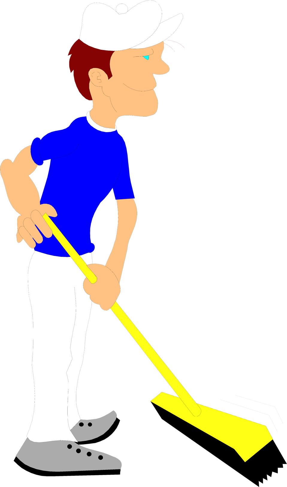 Free stock photo illustration. Male clipart janitor