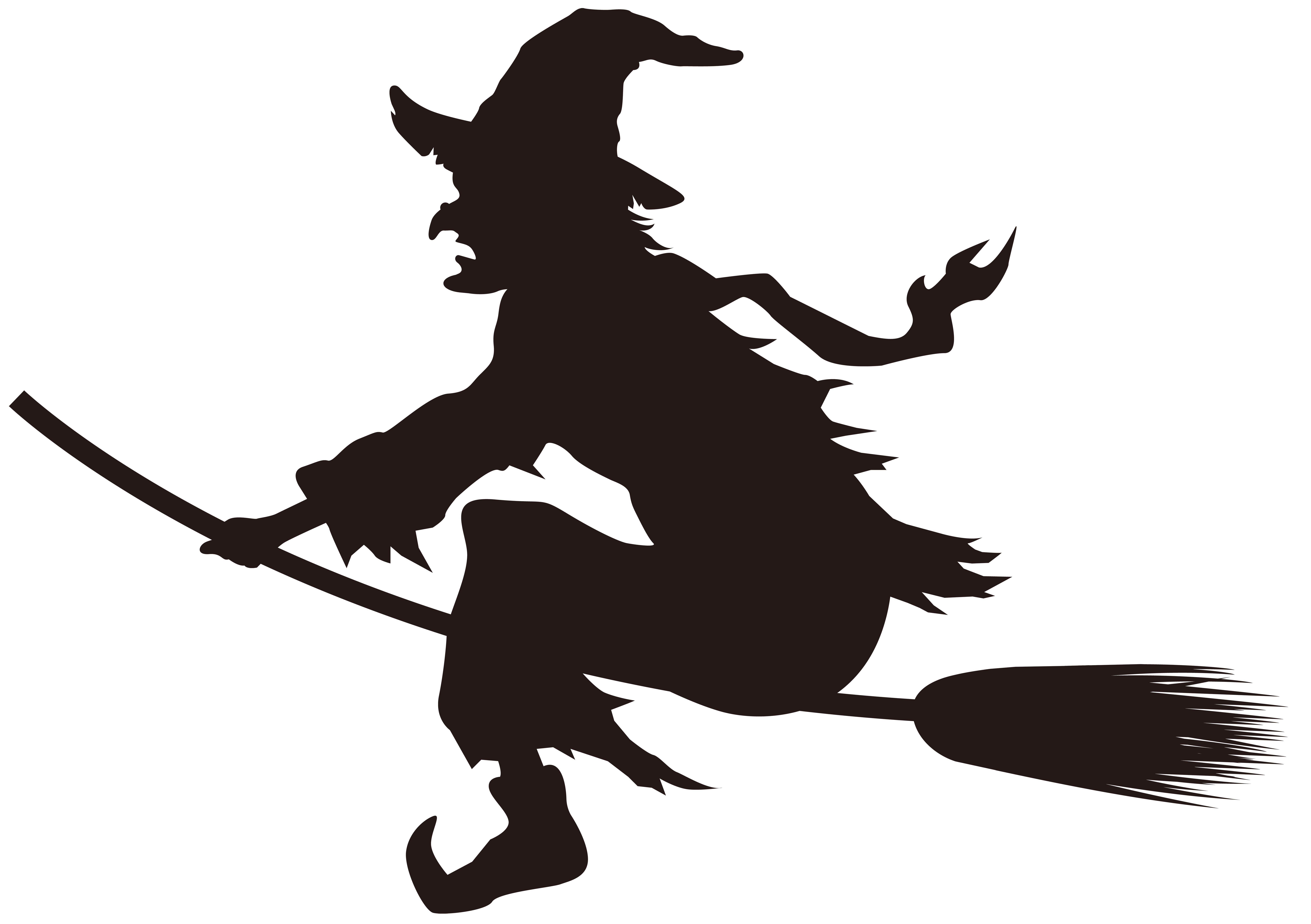 Halloween on silhouette png. Witch clipart broom clip art