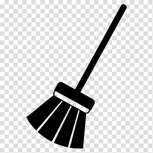 Brush cleaning computer icons. Dust clipart broom sweeping