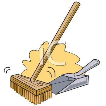 Day a children s. Broom clipart sweeping brush