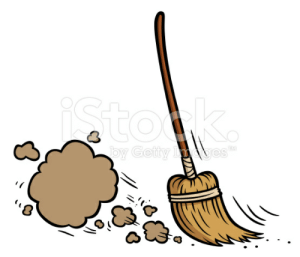 Broom clipart sweeping brush. Stok co by getty