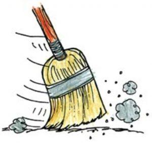 Vacuuming vs varsity vaccums. Broom clipart sweeping brush