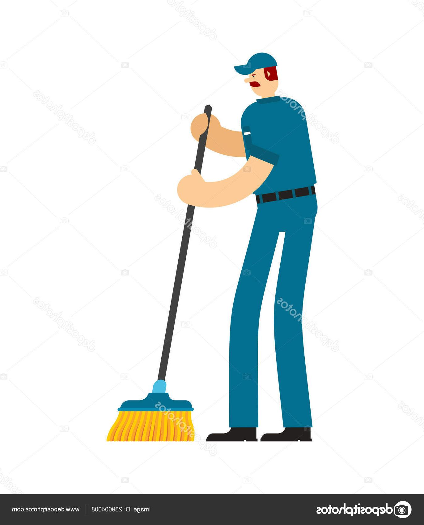 Best janitor photos free. Broom clipart vector