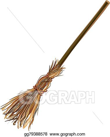 Eps illustration witches old. Witch clipart broom stick