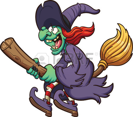 Broom clipart vector. Witch on free download