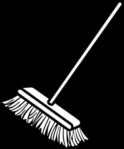 Broom clipart vector. Clip art of simple