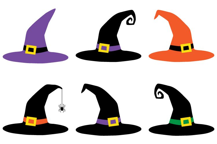 Broom witch hat