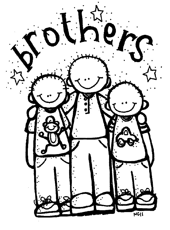Brothers clipart black and white. Free cliparts download clip