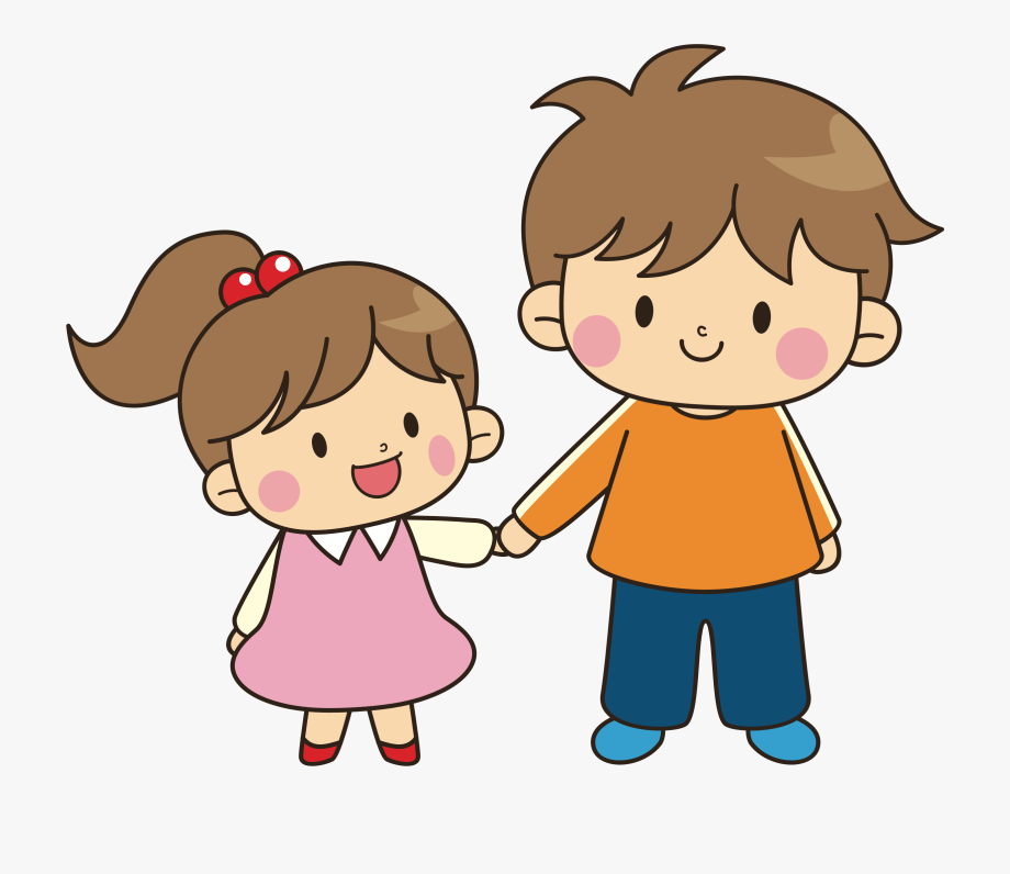 Brother clipart. Of older younger and