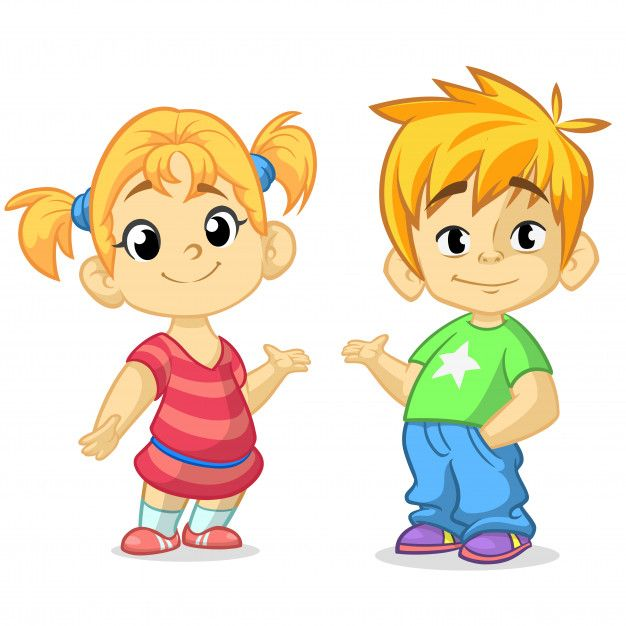 Brother clipart animated. Ni o vector premium