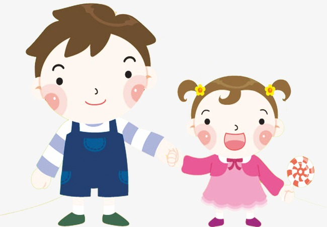 Brother clipart animated. Cartoon siblings and sister
