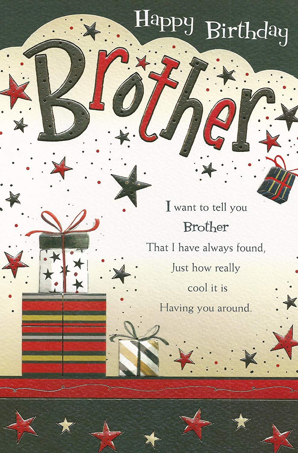 Brothers clipart birthday. Happy brother card amazon