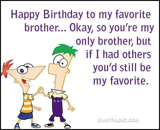 Happy to my brother. Brothers clipart birthday