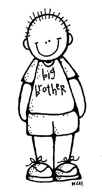 Little letters siblings cliparts. Brother clipart black and white
