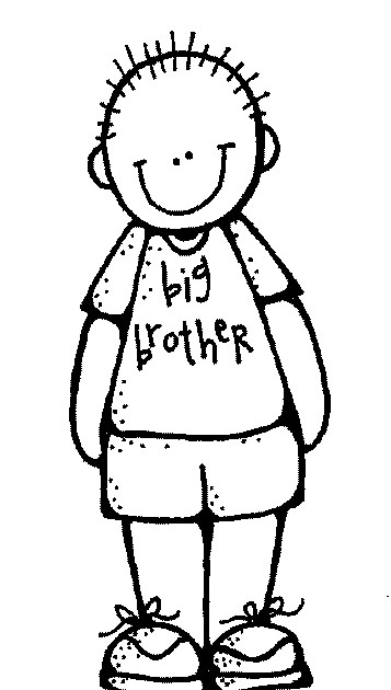 Brother clipart black and white. Letters station with