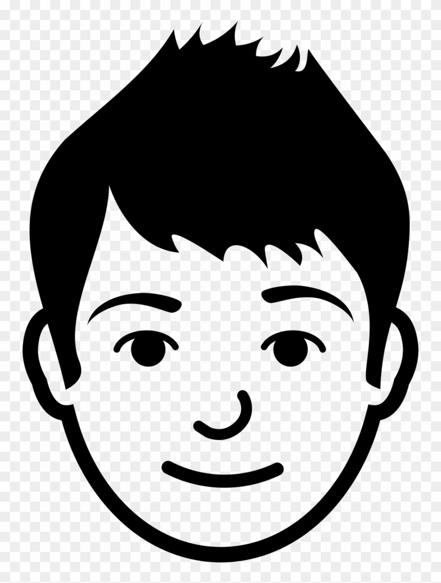 Brother face . Brothers clipart black and white