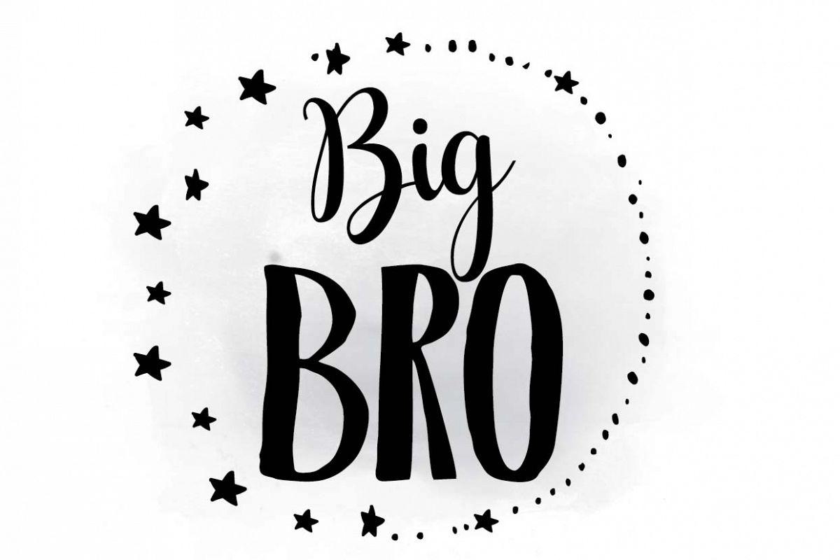 Brother clipart bro. Big svg s design