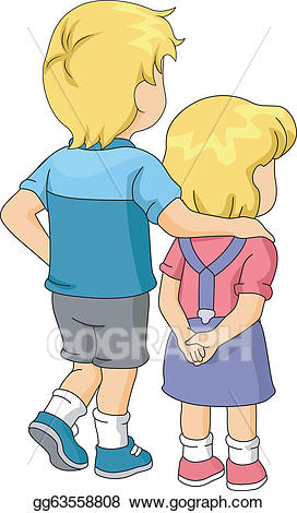 Young clipart brother elder. Clip art vector and