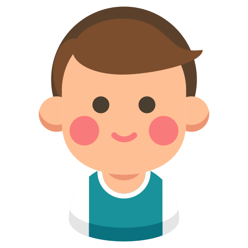 Cartoon face cheek nose. Brother clipart brother head