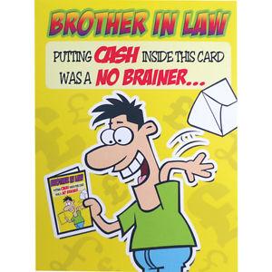 Birthday Card Putting Cash Humorous Funny Image C