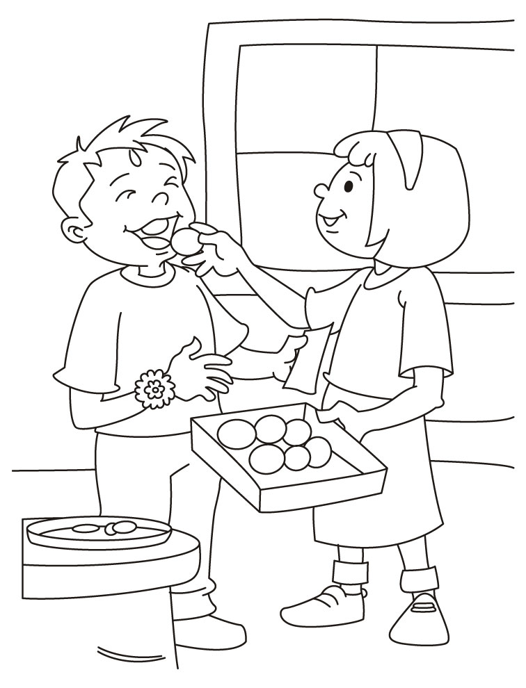 Brother clipart coloring. And sister drawing at