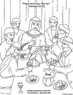 Brother clipart coloring. Joseph forgives his brothers