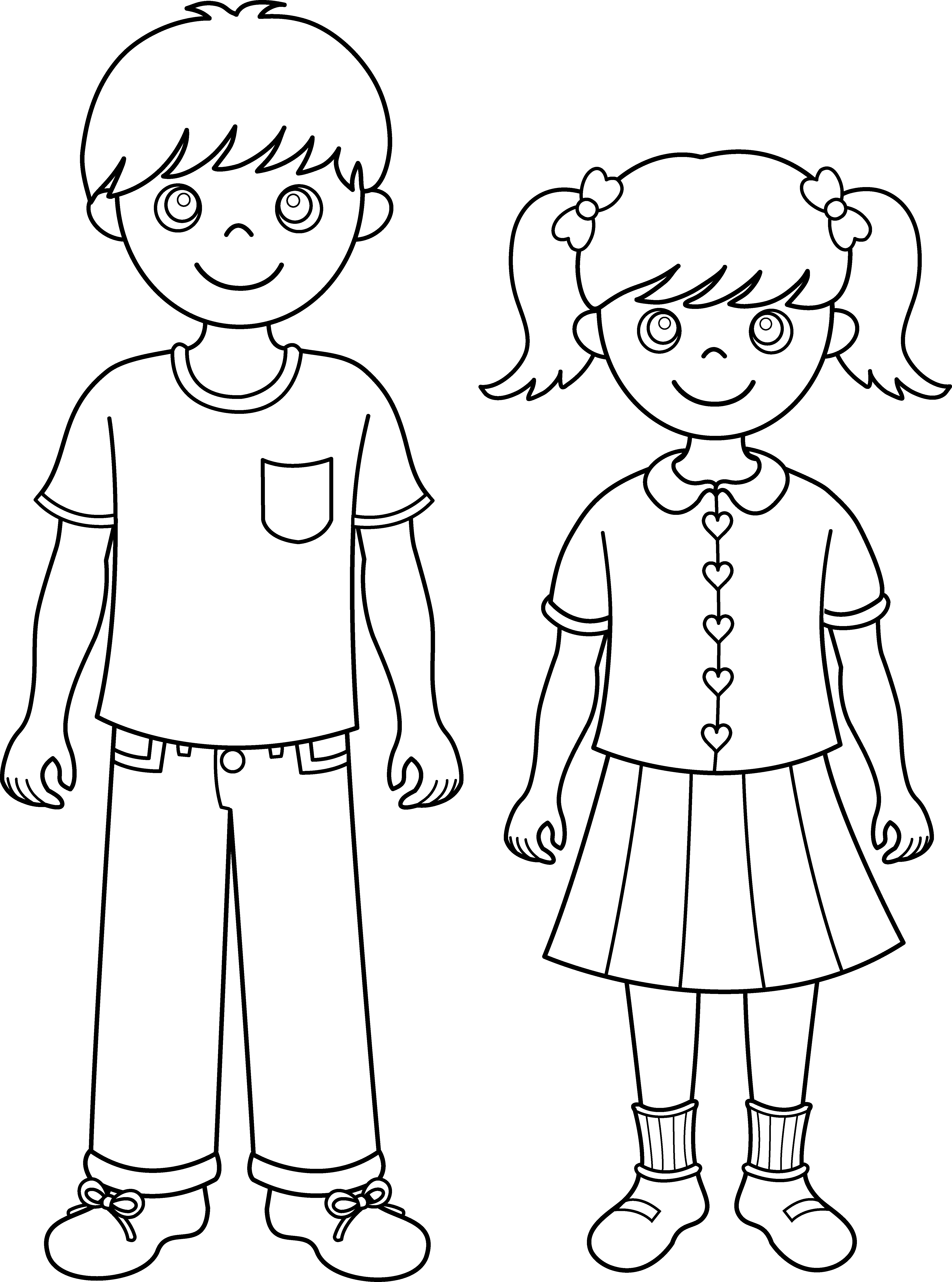 Brother and sister line. Brothers clipart cute