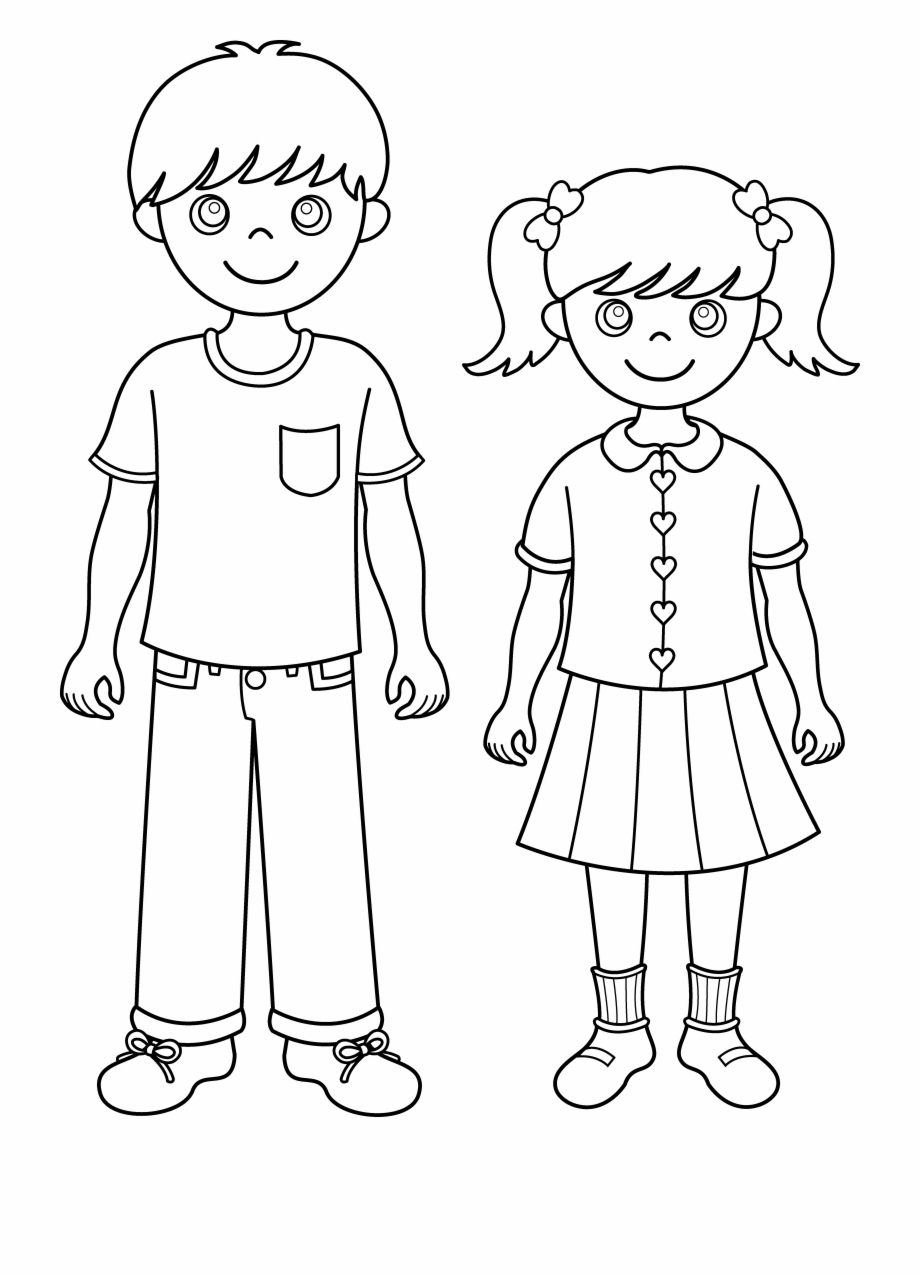 Brother clipart coloring. Siblings png black and