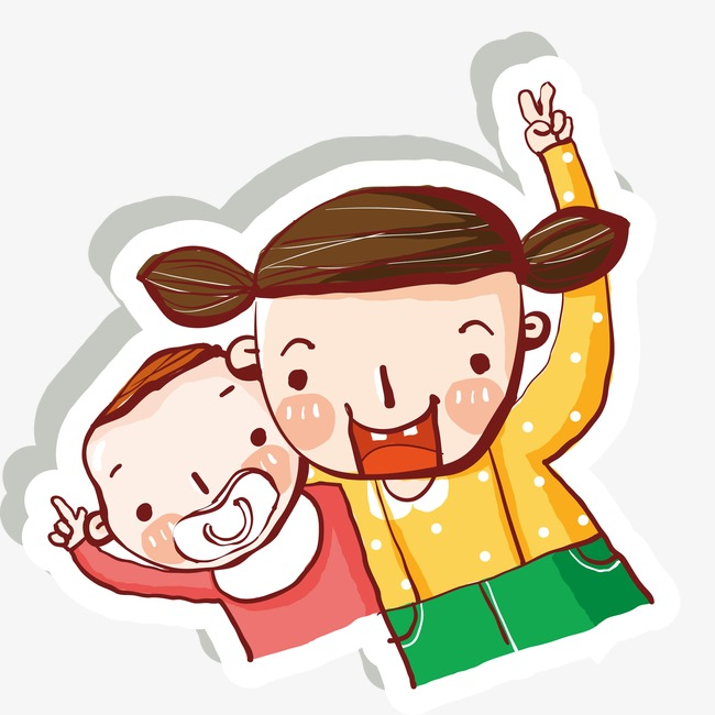Brother and sister background. Brothers clipart cute