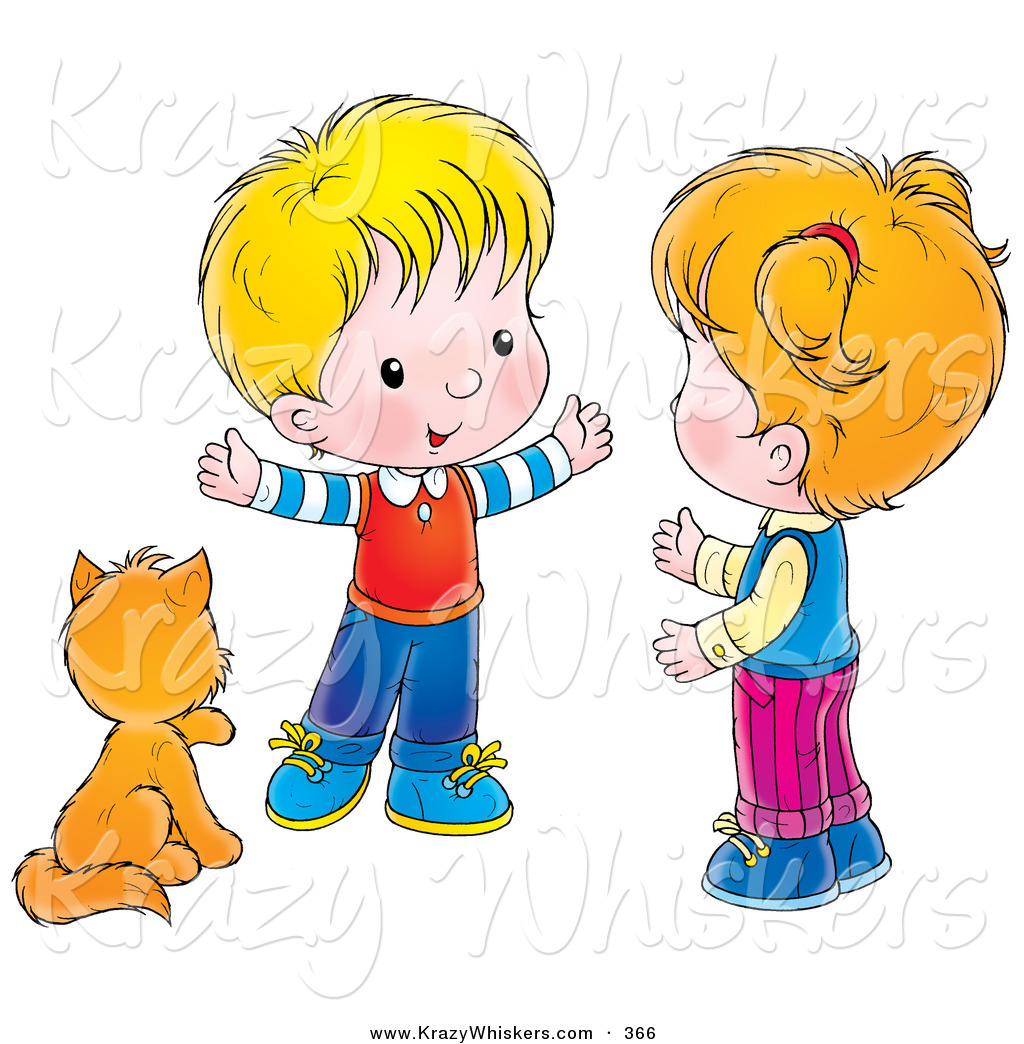 Brother clipart cute. Critter of a kitty