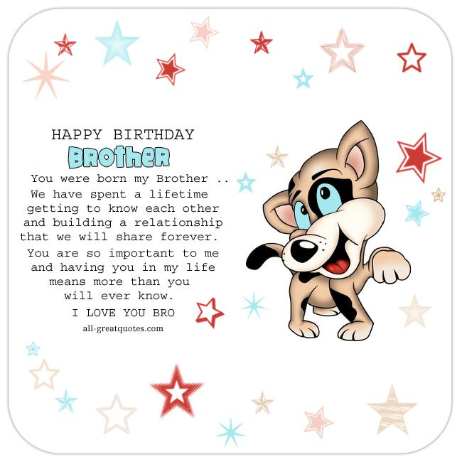 Brother clipart cute. Happy birthday best wishes