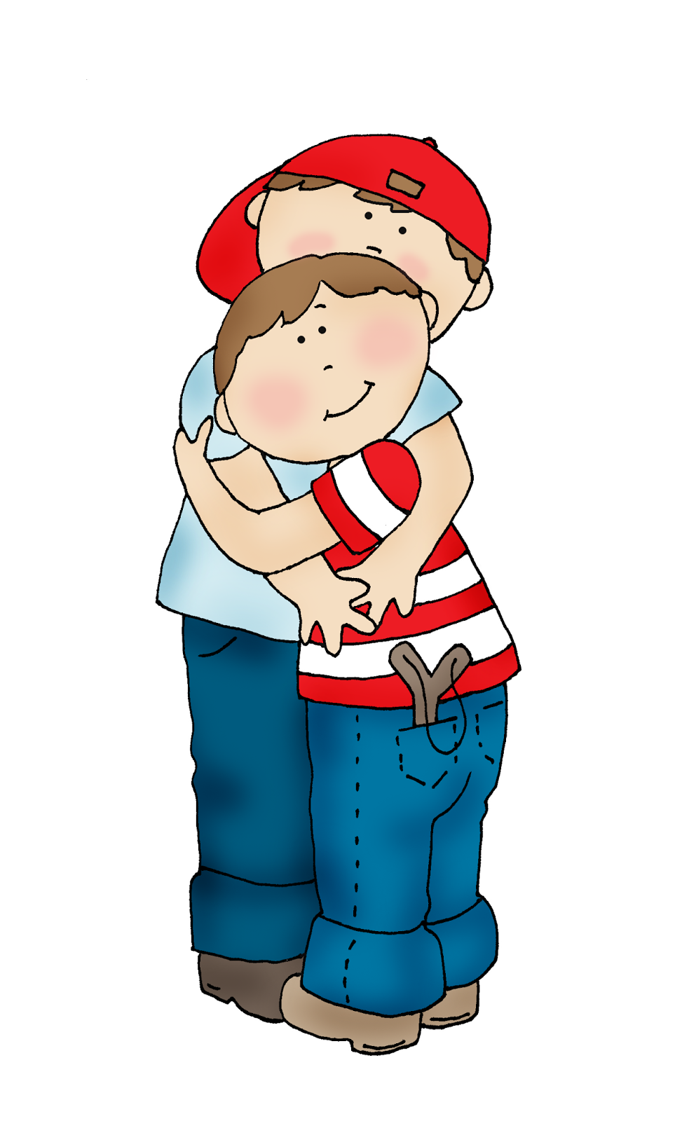Young clipart brotherr. Free dearie dolls digi