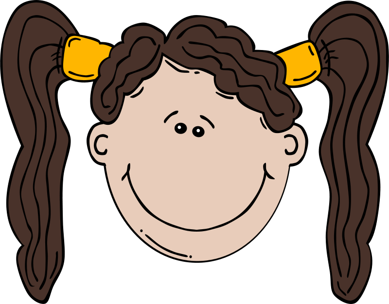 Free clip art girl. Brother clipart face