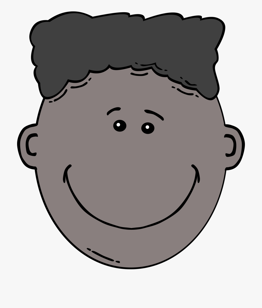 Brother clipart face. Boy black and white