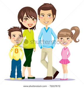Brothers clipart family. Portrait of a happy