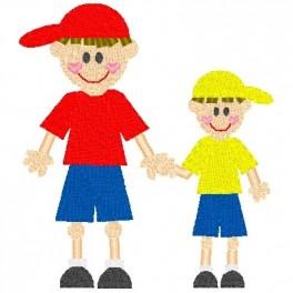 Brother clipart little brother. Boy stick big nobbieneezkids